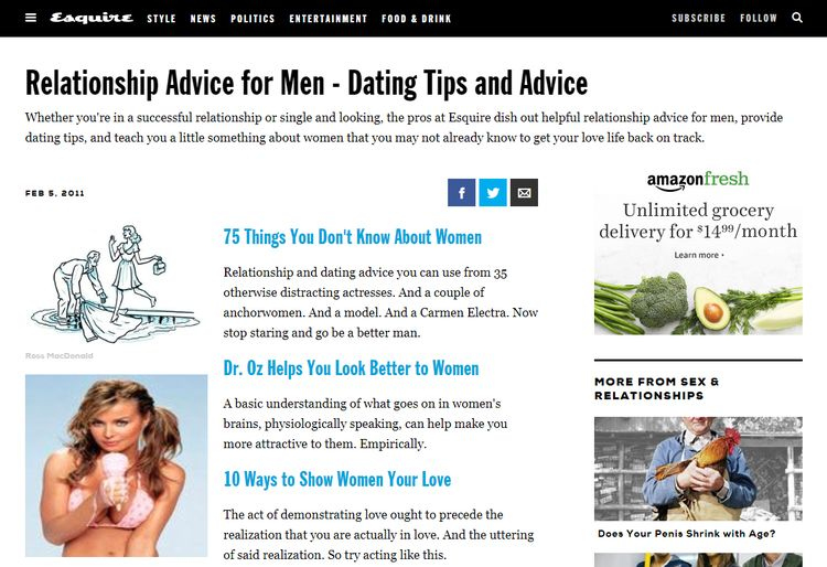 Relationship and dating advice blogs