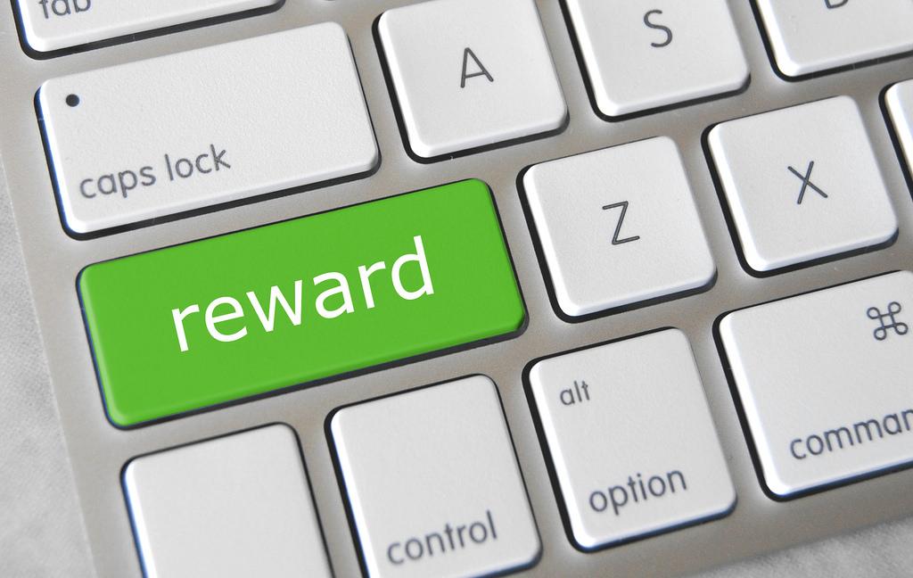 Reward Key on keyboard