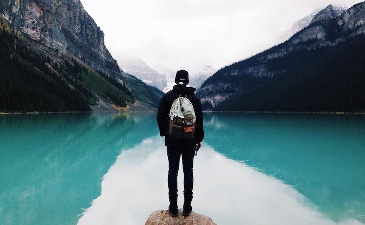 Man Feeling Calm at a Lake
