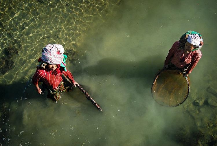 Patient Women Fishing