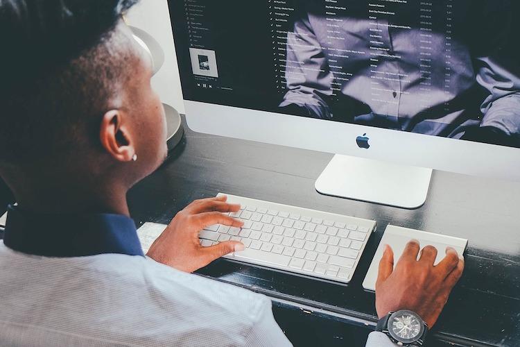 Man Working Computer Watch